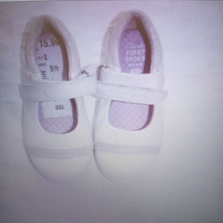 Clarks white summer shoes. NEW.
