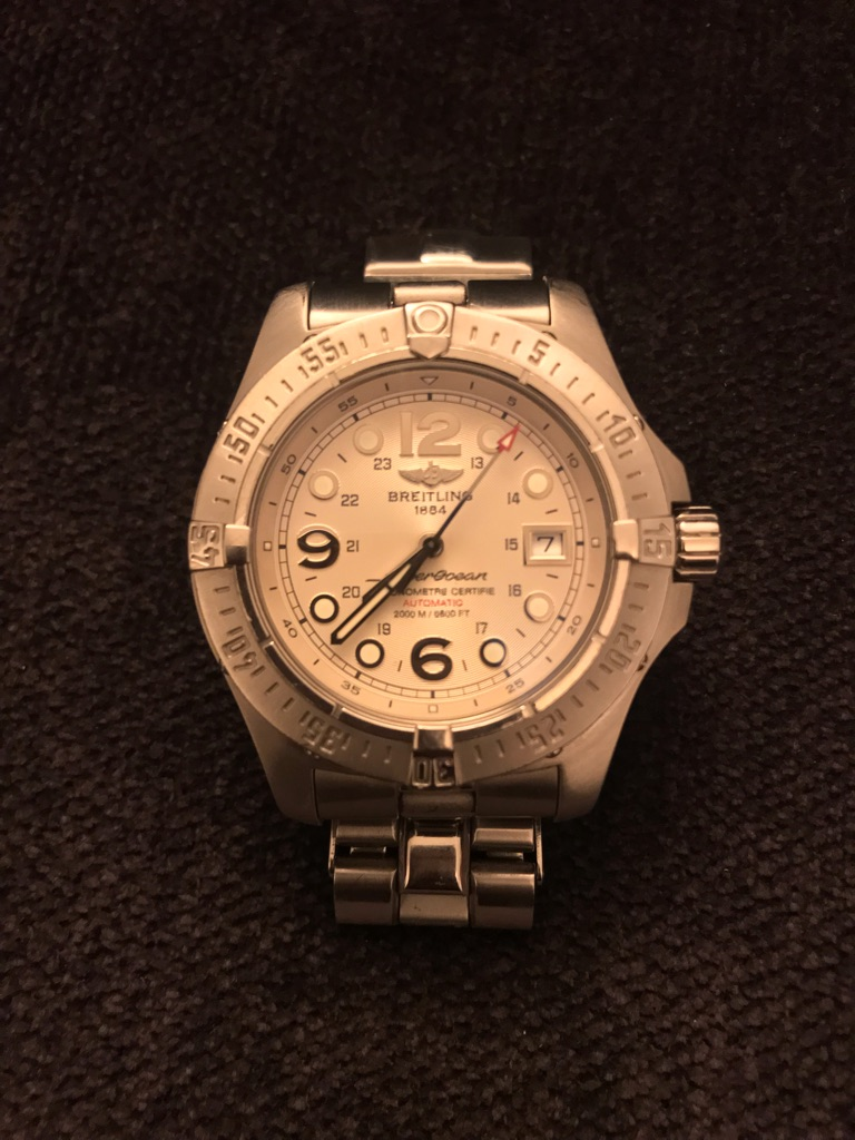 Breitling SuperOcean Steelfish - authentic watch with box and papers
