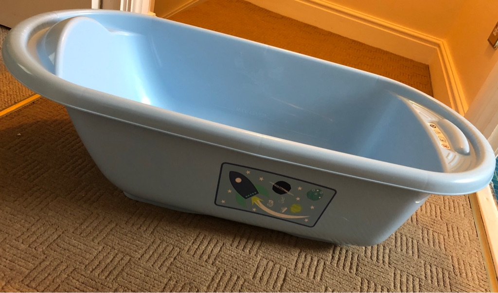 Blue baby Mothercare bath