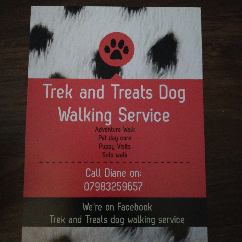 Trek and treats dog walking service