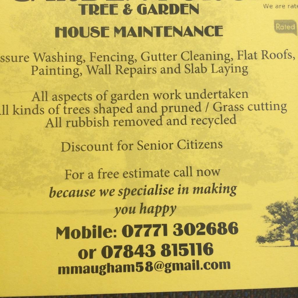 Garden force tree and garden maintenance