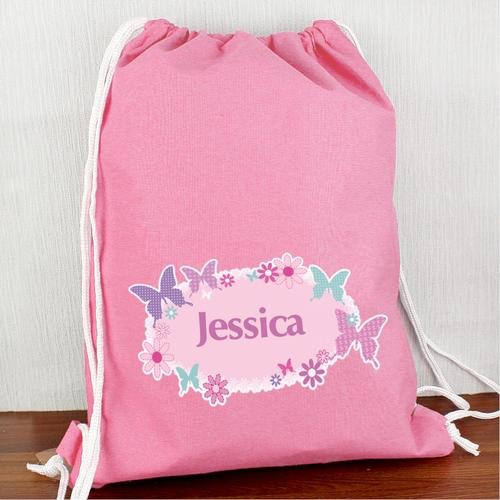 Personalised butterfly swim & kit bag