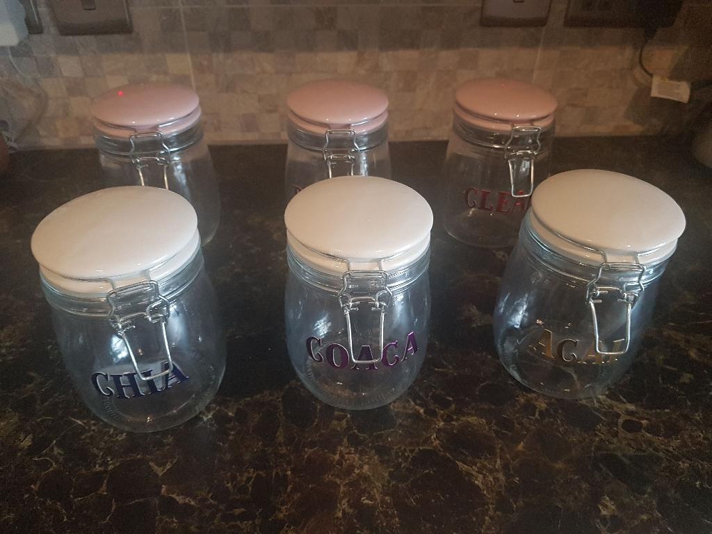 6 glass jars