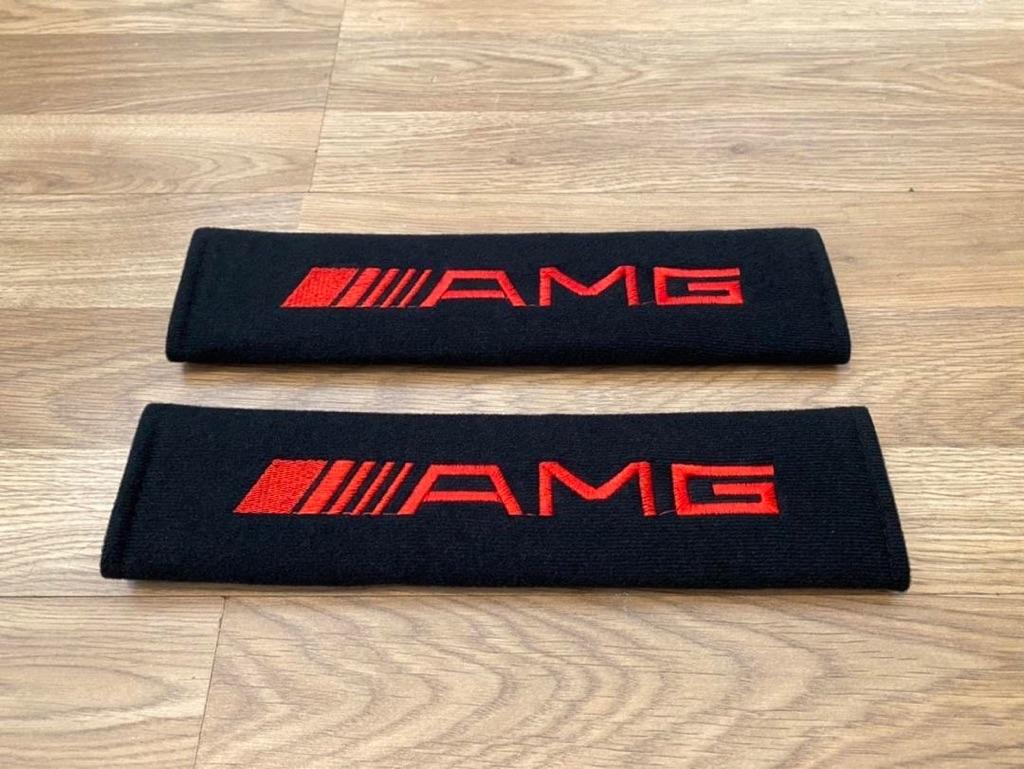 2X Seat Belt Pads Gifts Mercedes AMG GT Line 43 55 35 45 63 C GLC Sport Tuning