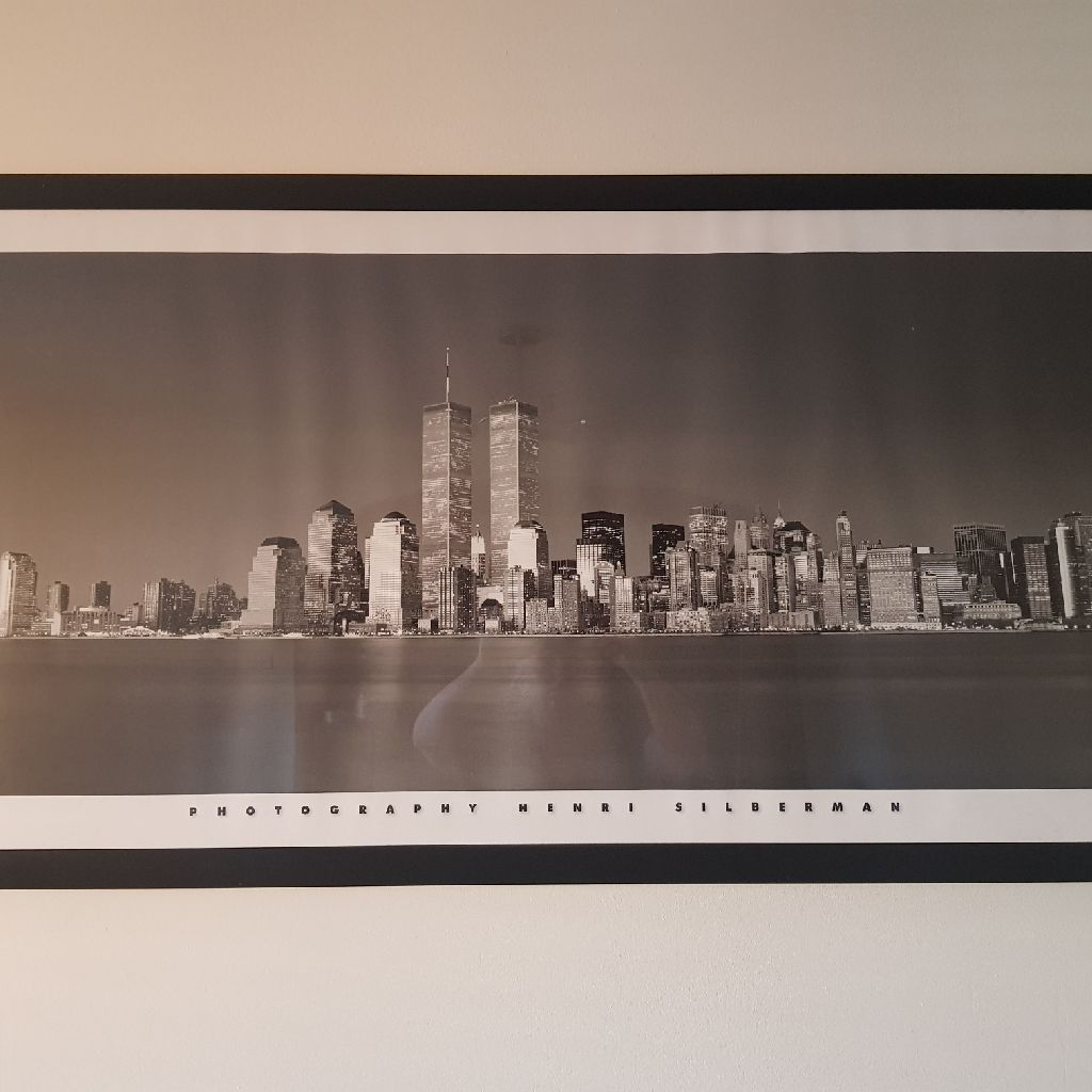 Framed picture of New York skyline