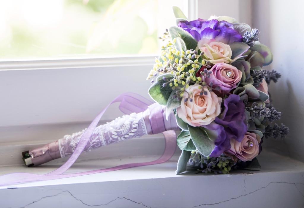Bridesmaid Posy Lavender and Vintage Rose Bouquets