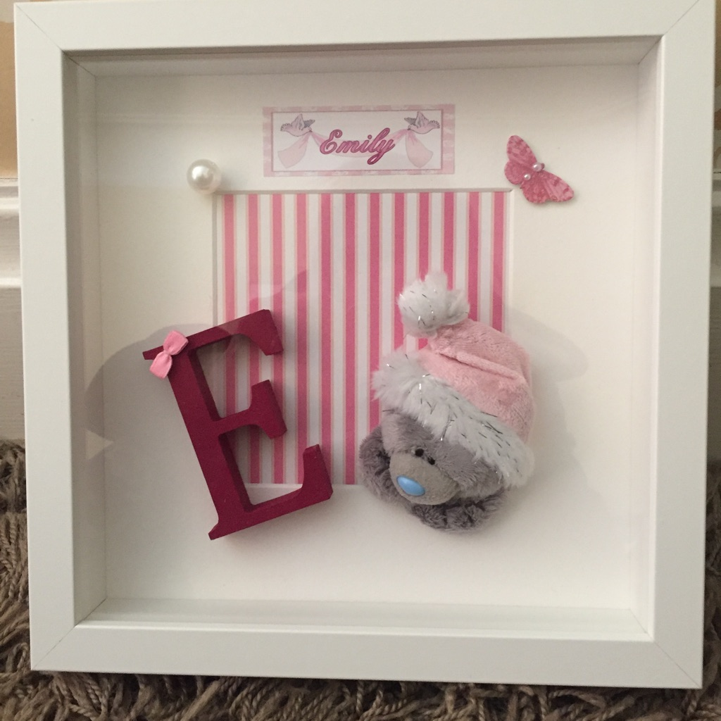 Baby girl shadow box frame