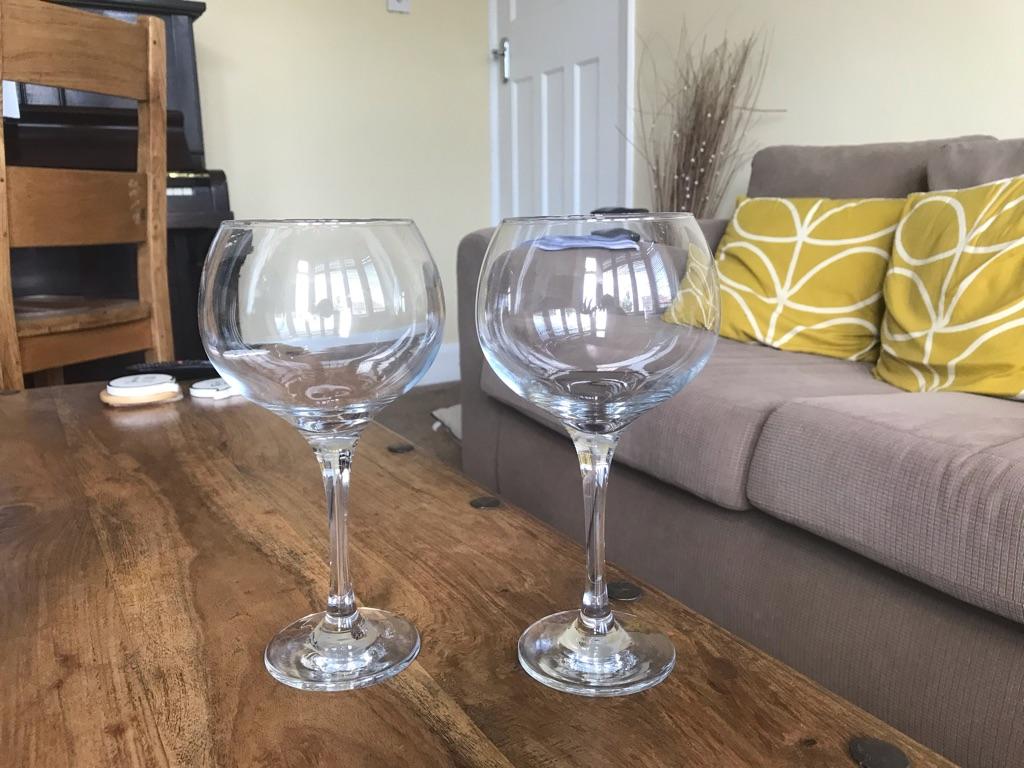 Unused gin glasses
