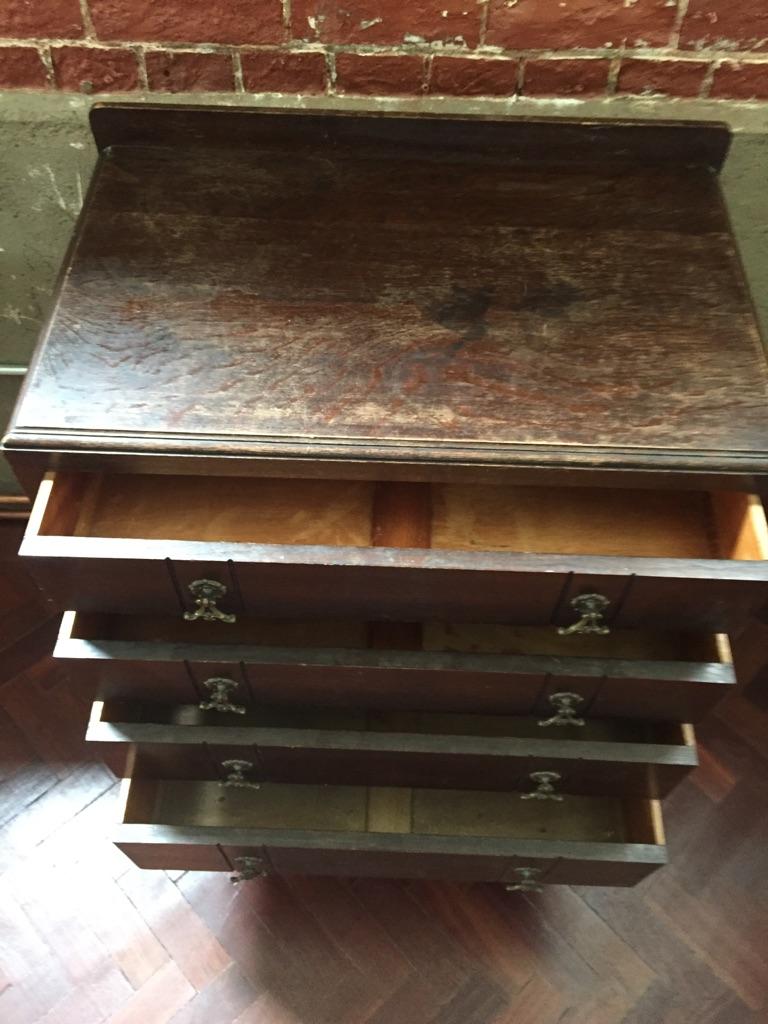 Brown wooden dresser
