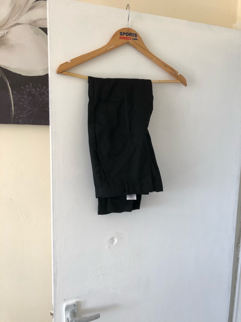 Boys black school trousers 9-10
