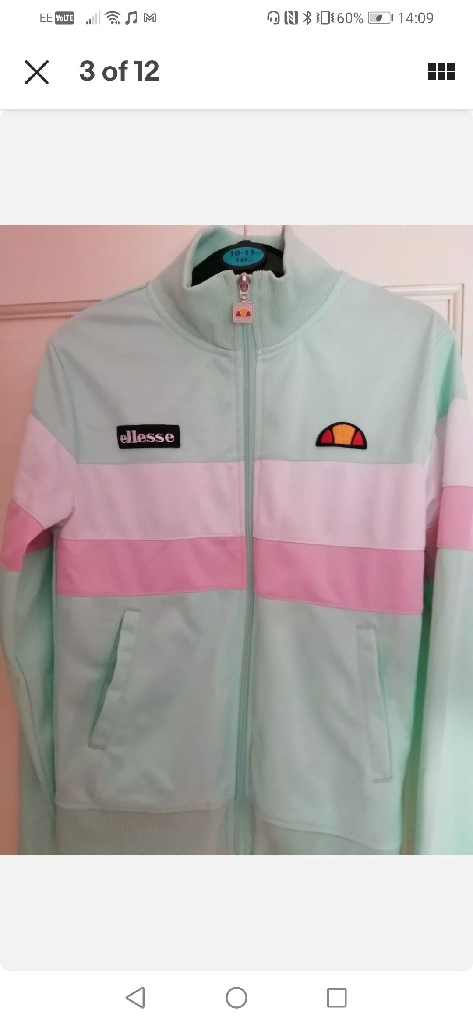 Ellesse Piemonte track suit top Woman's Uk size 6/Extra Small