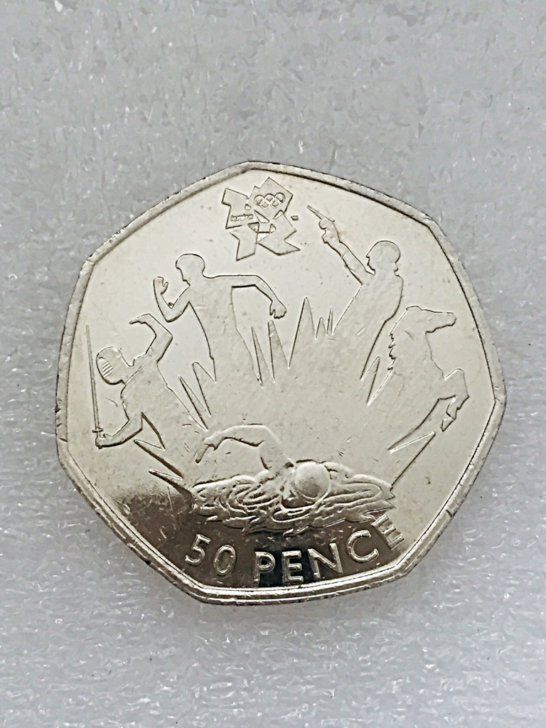 50p coin pentathlon London Olympic Games 2011.