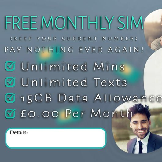 Free monthly sim card