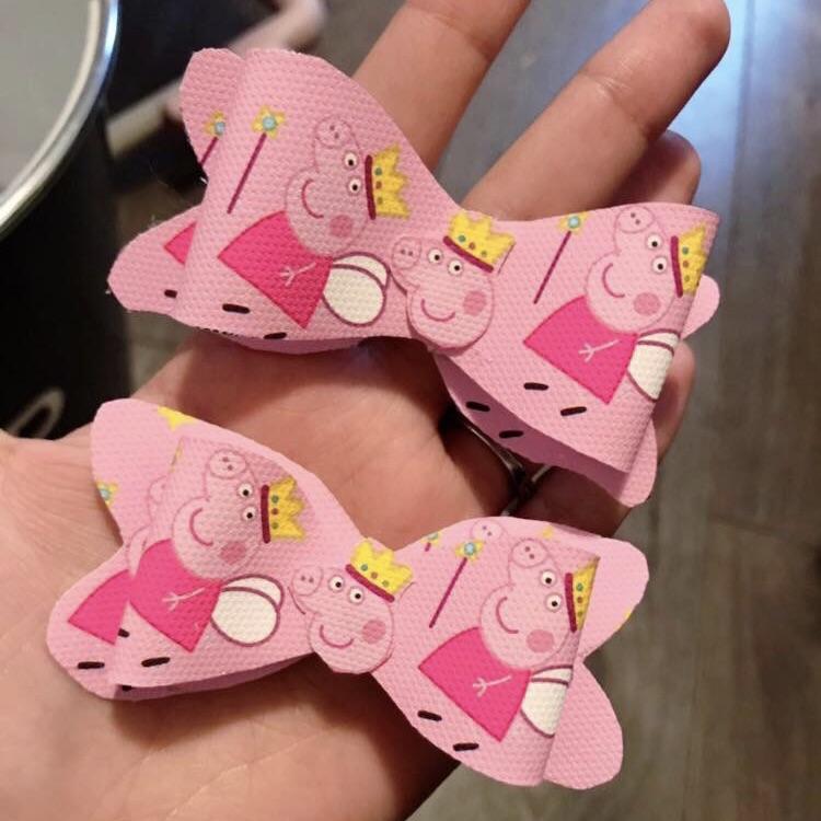 Peppa pig bows