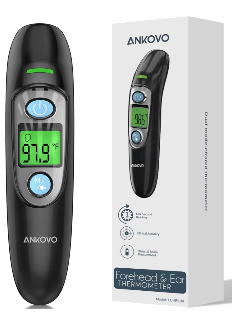 Thermometer for Adults, Non Contact Forehead and Ear Thermometer for Fever, Babies, Children, Kids
