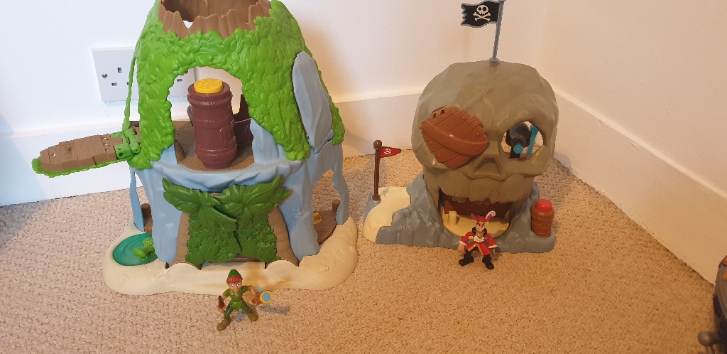 Peter pan and Captain hook playsets