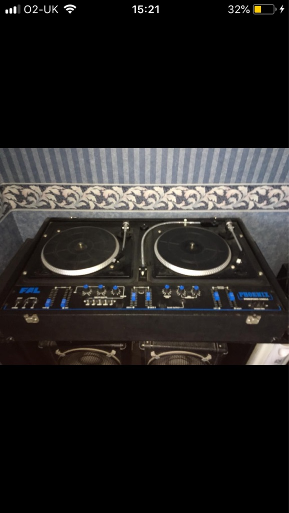 Dj double deck LP set for sale