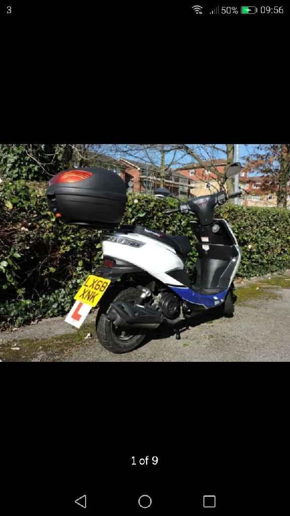 Lexmoto Echo 50 E4 (2018) in excellent condition, inc alarm, locks, top box, only 965 miles on the clock