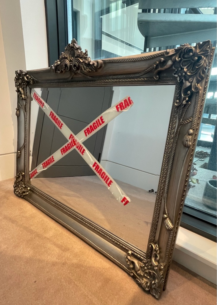 Stunning silver mirror