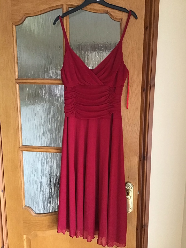 PARTY/COCKTAIL RED DRESS SIZE 14