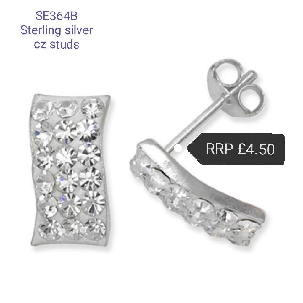 Sterling silver CZ studs