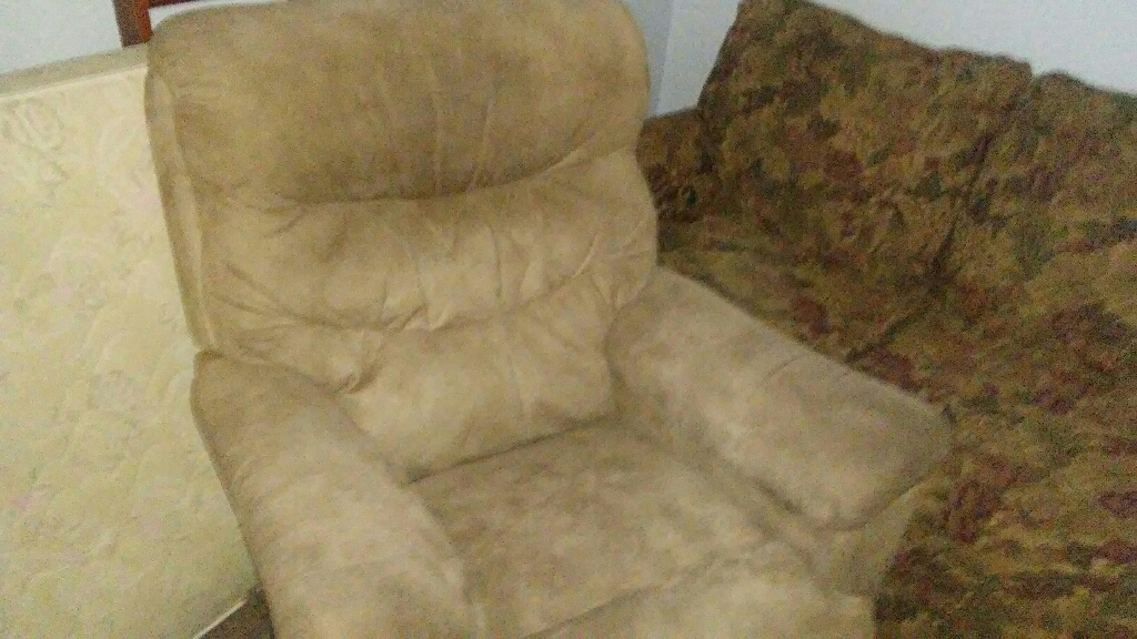 Tan leather Lazy Boy recliner