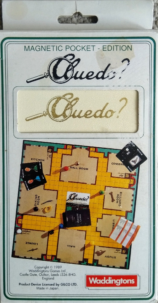 Cluedo Travel Board Game by Waddingtons