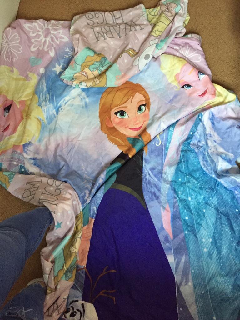 Disney frozen single duvet cover and pillow case