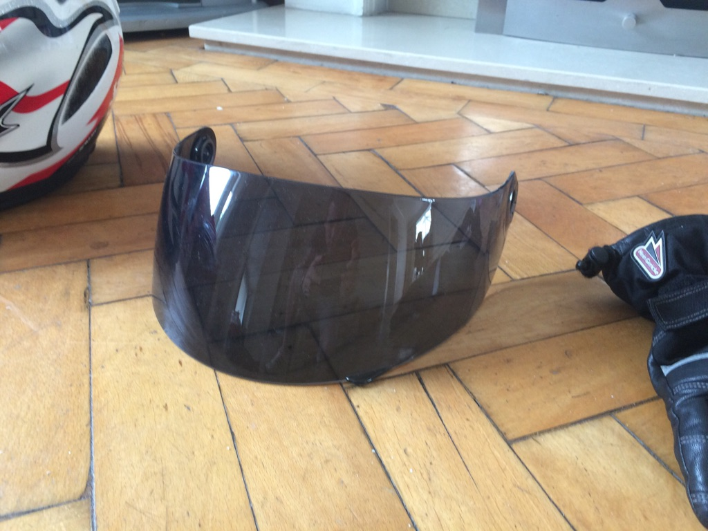 Shark S700 helmet with tinted visor and goret