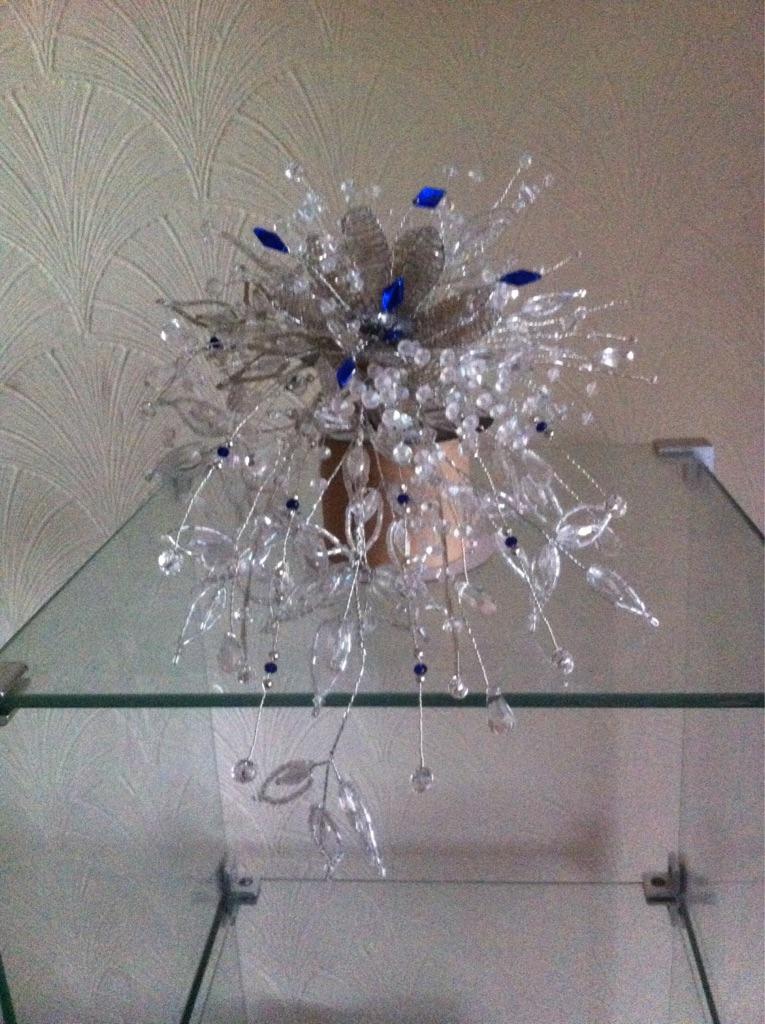 Handmade Crystal and Bead Bouquet