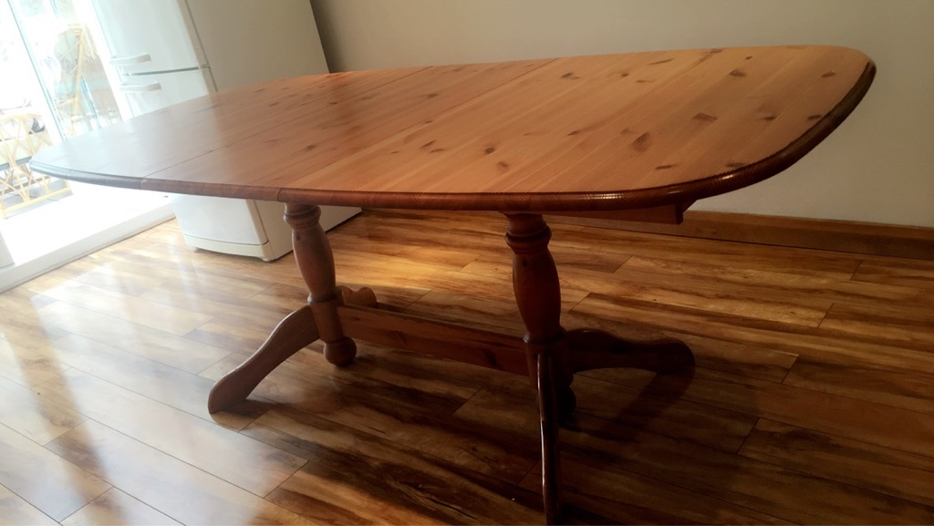 DINING SET - OAK WOOD DINING TABLE + 6 CHAIRS