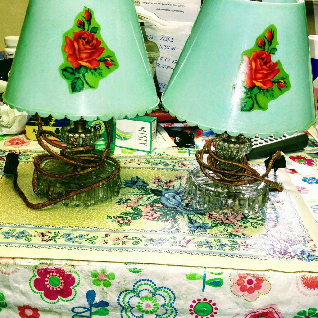 Antique Victorian table lamps
