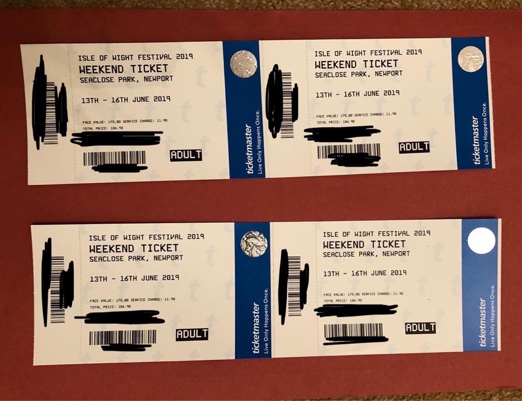 4 x Isle of Wight Weekend Tickets