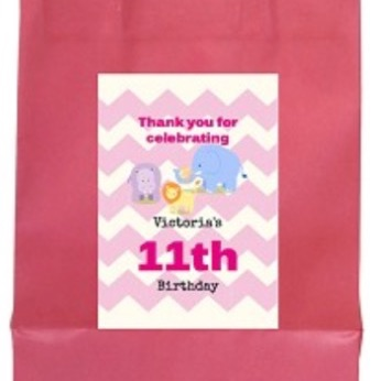 Personalised animals party bag with handle