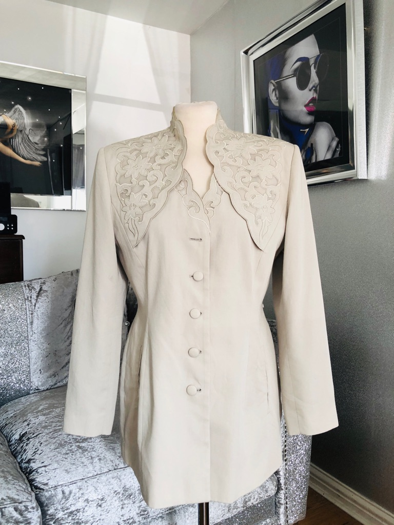 Women's beige jacket by cartoon size 12/14