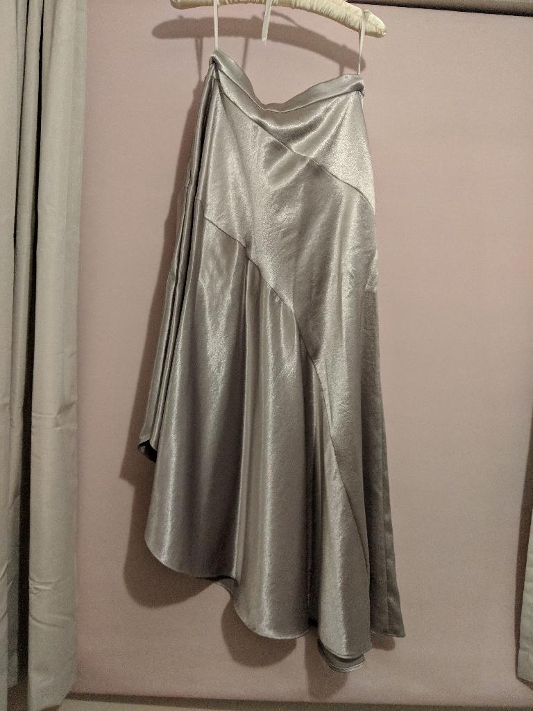 Coast satin skirt, champagne gold, size 10