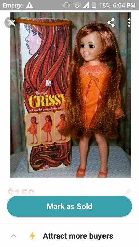 1968 Ideal Grow hair Crissy Doll