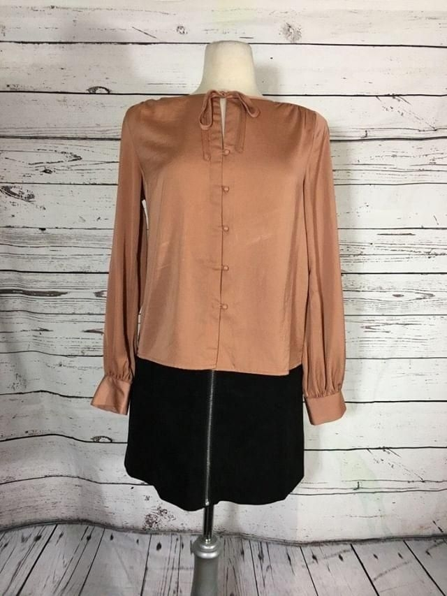 Blush silky blouse