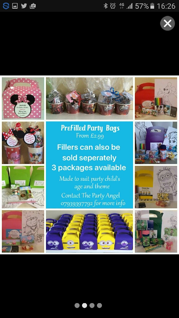 Party Planning, Party Bags, Sweet Cones, Souvenirs and more