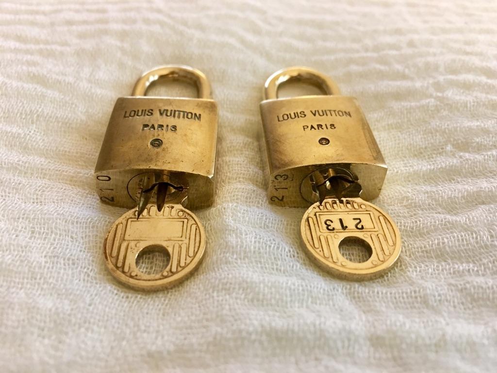 Authentic Louis Vuitton Keys & Locks Set