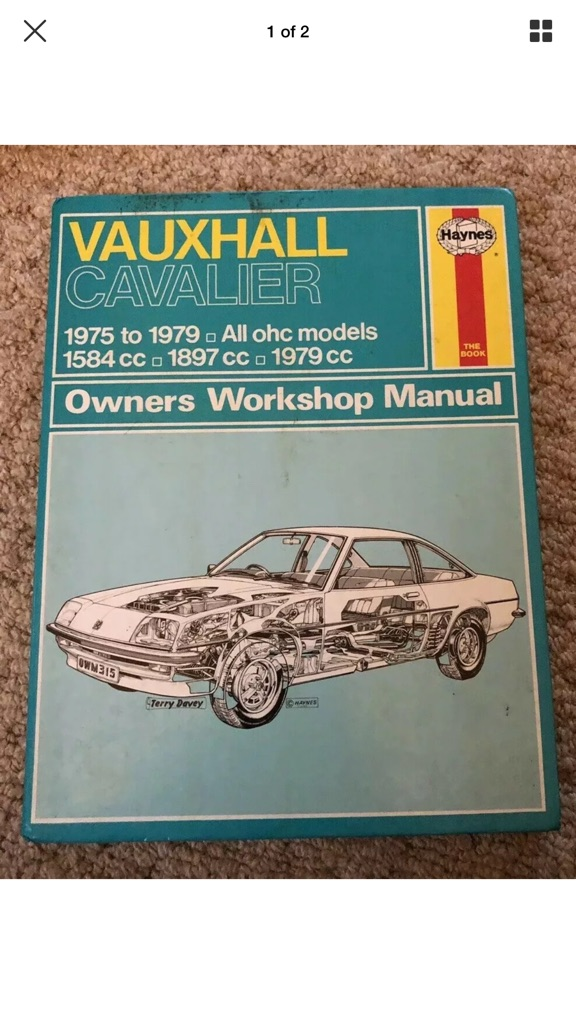 HAYNES OWNERS WORKSHOP MANUAL FOR VAUXHALL CAVALIER