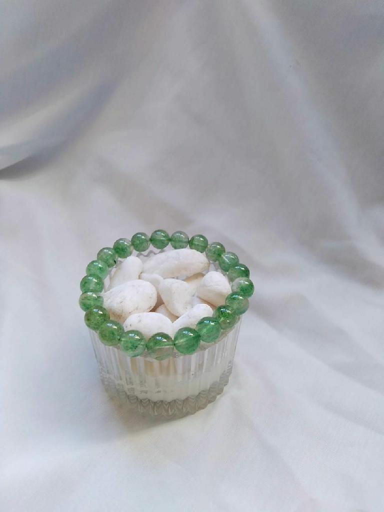 綠草莓水晶手鏈Crystal