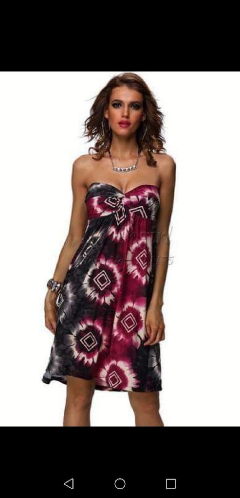 Diamond boobtube dress