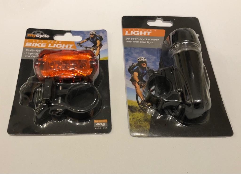 Bike lights and lock