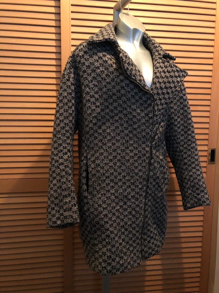 Dorothy Perkins tweed thick boyfriend style coat size small/medium