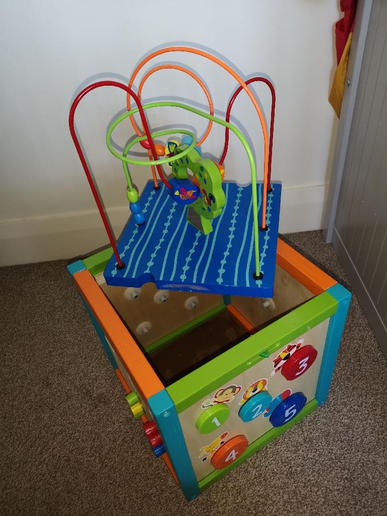 Children's activity box with storage