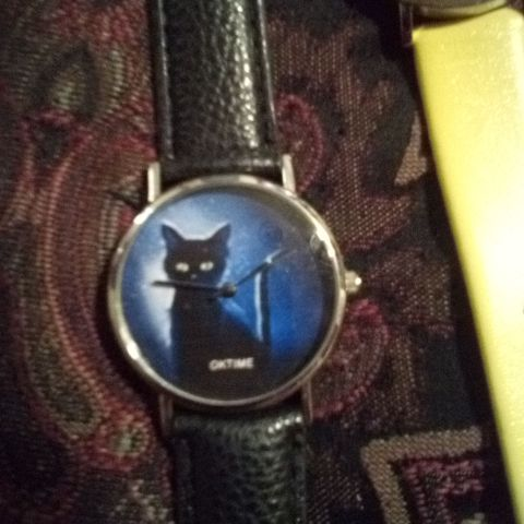 Ontime black cat watch
