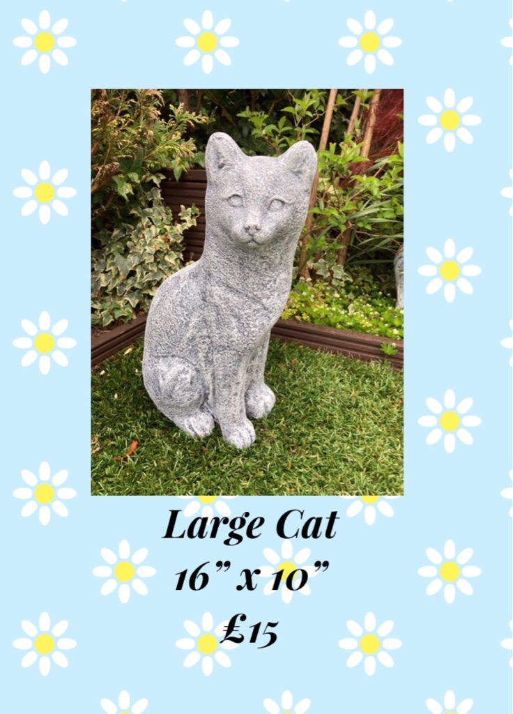 Garden Ornaments Various Types Of Cats Reconstructed Stone Brand New