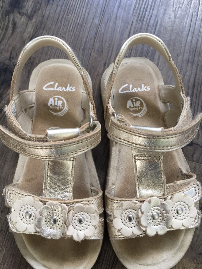 Clarke's girls gold sandals