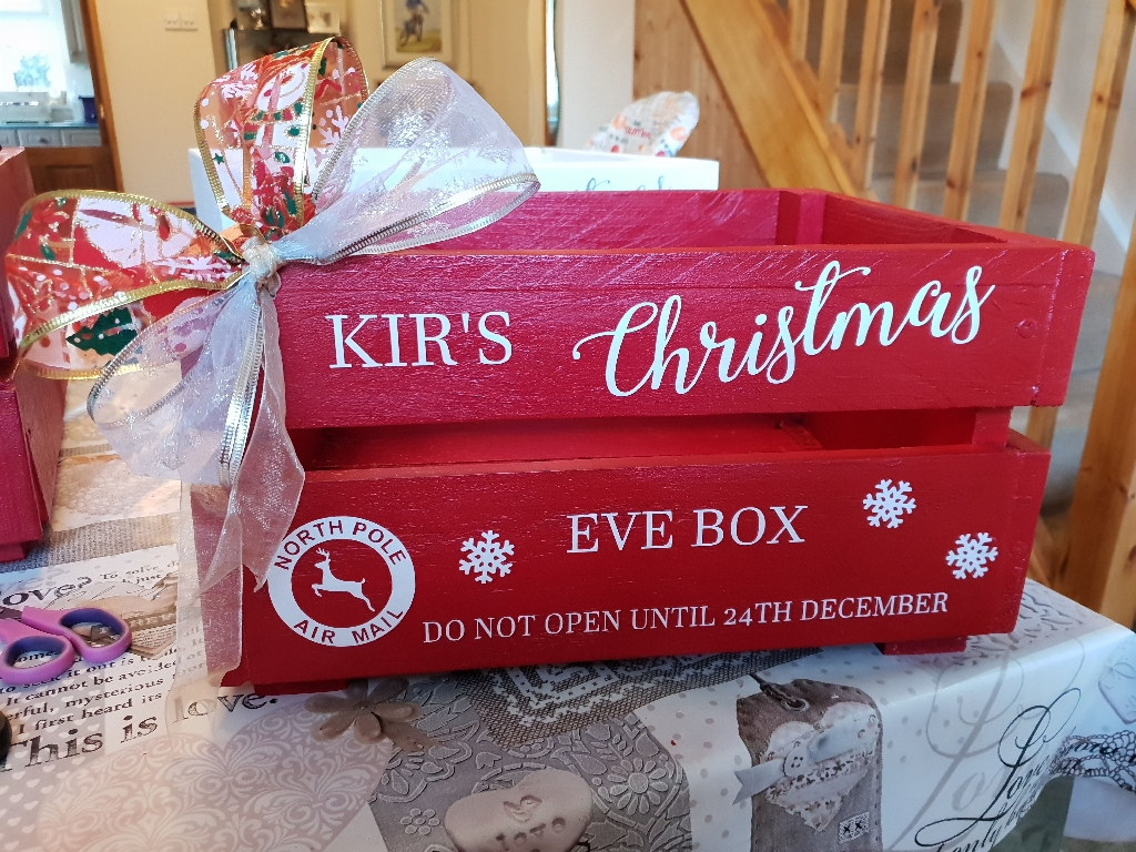 Handmade Personalised Christmas Eve Crates